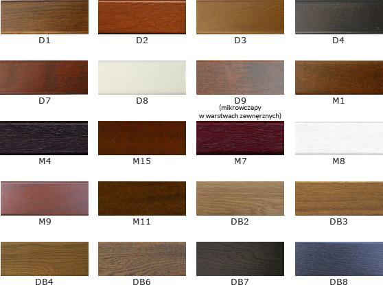 Kolory okien drewnianych