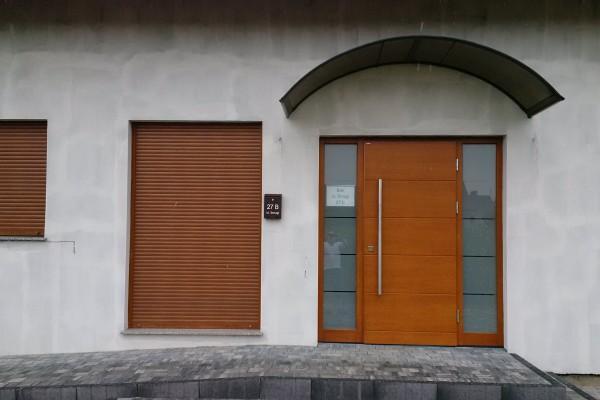 Drzwi Parmax+zadaszenie Buk ul.Smugi 27 B